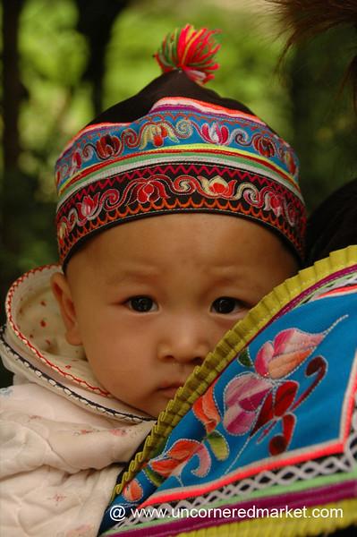 Hani Baby in Traditional Dress - Yuanyang, China