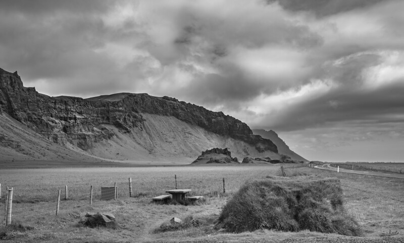 Picnic Table in Iceland   Black and White Photography by Wayne Heim