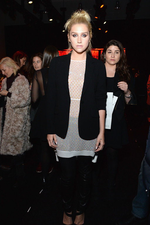 . NEW YORK, NY - FEBRUARY 15: Kesha attends the Diane Von Furstenberg fashion show during Mercedes-Benz Fashion Week Fall 2015 at Spring Studios on February 15, 2015 in New York City.  (Photo by Ben Gabbe/Getty Images)