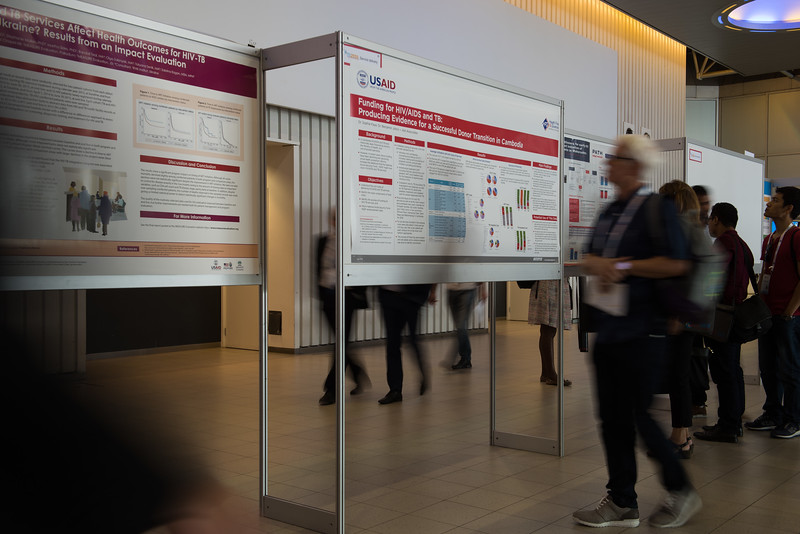 22nd International AIDS Conference (AIDS 2018) Amsterdam, Netherlands   Copyright: Marcus Rose/IAS  Photo shows: TB 2018: Bridging the TB and HIV Communities. Discussion: Bringing TB prevention to scale. Poster Exhibition.