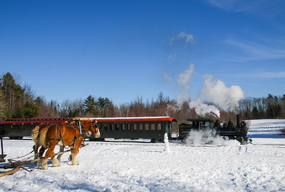 "Wiscasset Waterville & Farmington Railway ""Steam and Sleighs"" 2-17-19"