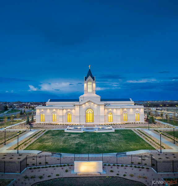 Fort Collins Temple - Twilight blue