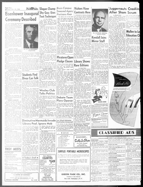 Daily Trojan, Vol. 40, No. 31, October 25, 1948