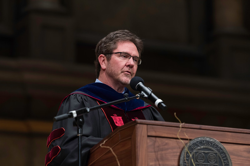 Provost and Senior Vice President for Research/ Robert Clark, Introduces Conferring of Degrees  // University of Rochester School of Nursing Commencement, Kodak Hall at Eastman Theatre May 17, 2019.  // photo by J. Adam Fenster / University of Rochester