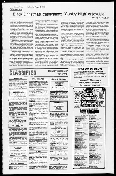 Summer Trojan, Vol. 68, No. 13, August 06, 1975