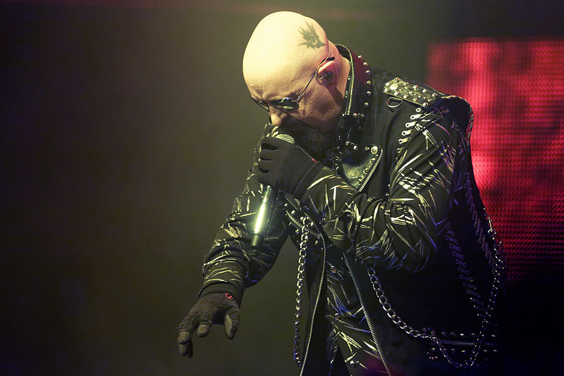 . Rob Halford of Judas Priest at The Fox on Oct. 19, 2014. Photo by Ken Settl
