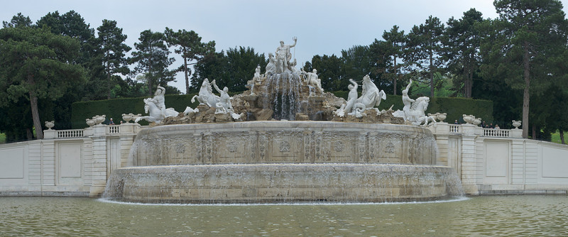 Neptune Fountain or Neptunbrunnen at the Schonbrunn Palace Complex - Vienna, Austria
