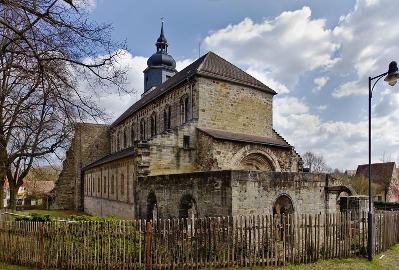 Thalbürgel, ehem. Klosterkirche von Nordwesten
