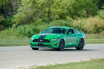 Green/Black Mustang GT