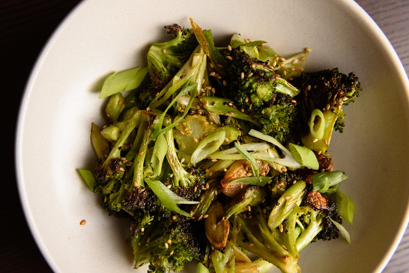 roast broccoli with sesame