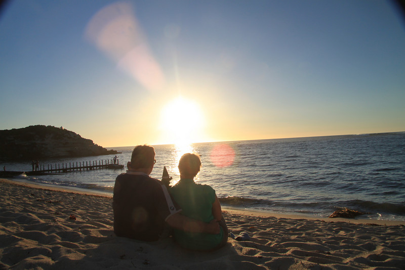 Sunset- Margaret River ( Prevelly) - with Stinky