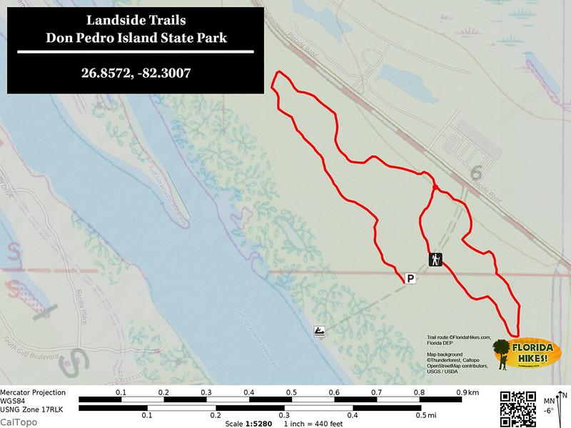 Don Pedro Island Landbase Trail Map