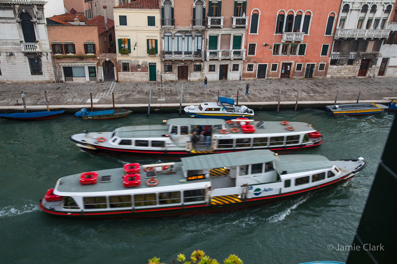 Morning Traffic - Our Window View in Venice, Italy -  October 2017