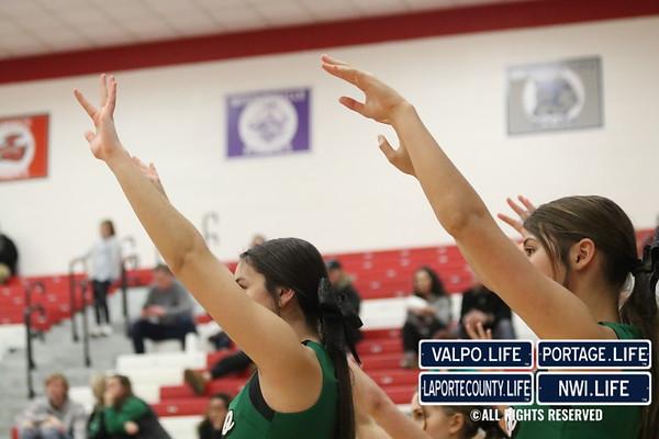 GIRLS BASKETBALL SECTIONALS Hobart VS Valpo 2020