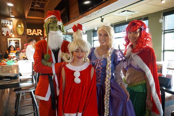 Characters and Santa 2019
