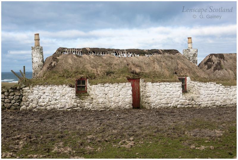 Derelict turf roofed cottage, Sandaig