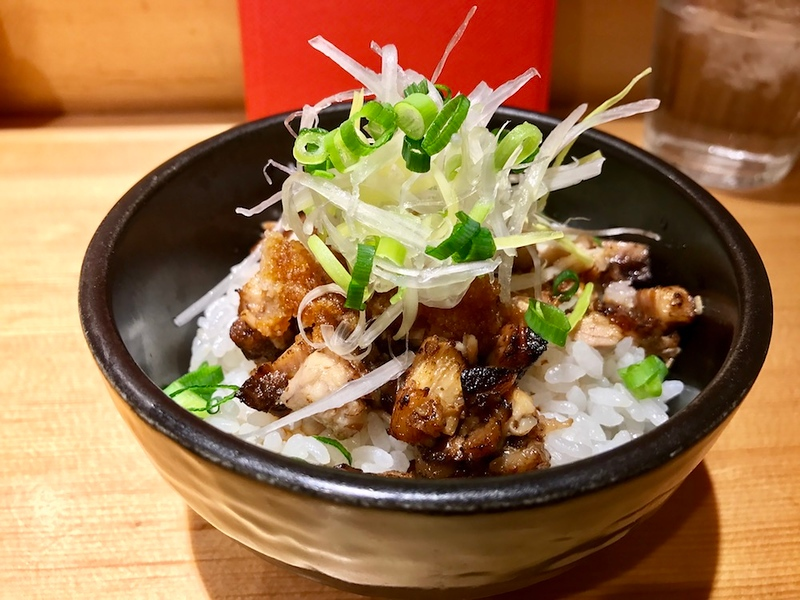 A Japanese-style chashu rice bowl topped with grated daikon radish.