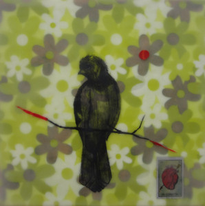 "Heart Belongs to Rufous, 12"" x 12"", 2011"