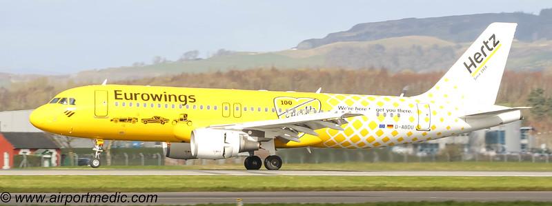 D-ABDU Airbus A320-200 Eurowings @ Glasgow Airport