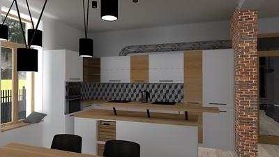Prostorná kuchyň s jídelnou