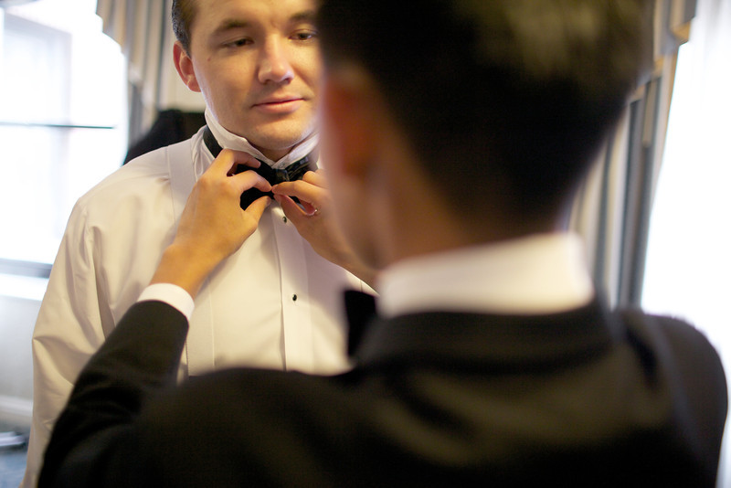 Le Cape Weddings - Chicago Cultural Center Weddings - Kaylin and John - 06 Groom and Groomsmen Getting Ready 28
