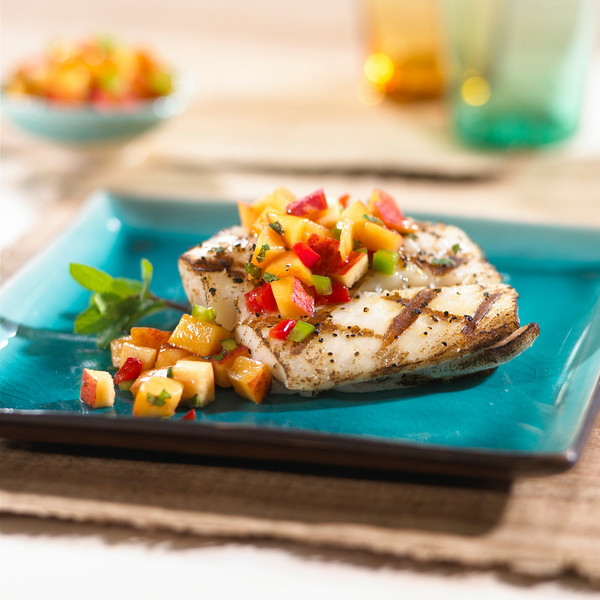 Grilled Fish with Nectarine Mint Salsa.JPG