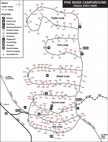 Itasca State Park (Pine Ridge Campground)