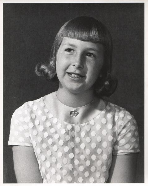 Debbie Packard Kennedy as a child