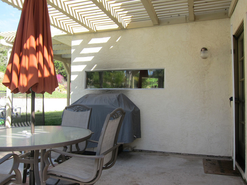 Covered patio...one of two...