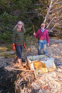 This One Had To Be Dug Out - Vertical April 2013, Cynthia Meyer, Chichagof Island, Alaska