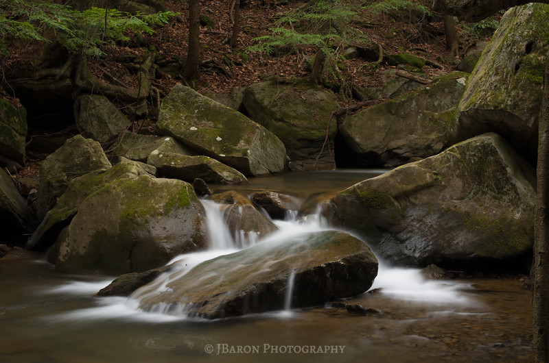 Flowing Water and Mossy Rocks at McConnells Mill II