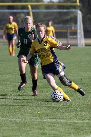 Freeland at Valley Lutheran girls soccer 20130516