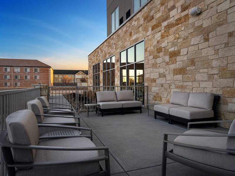 Amarillo Hyatt Place outdoor sitting area.JPG