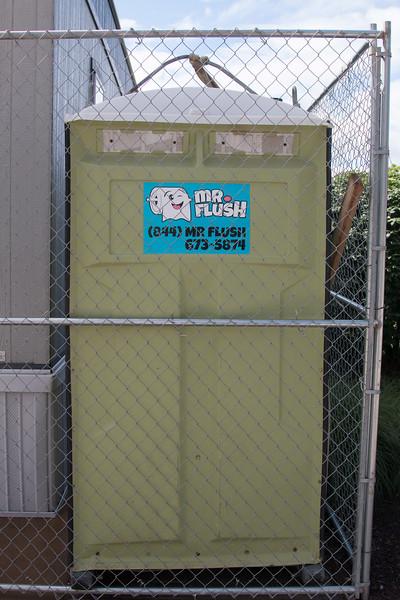Mr. Flush, outside Heinz Field, Pittsburgh, PA (June 2015)