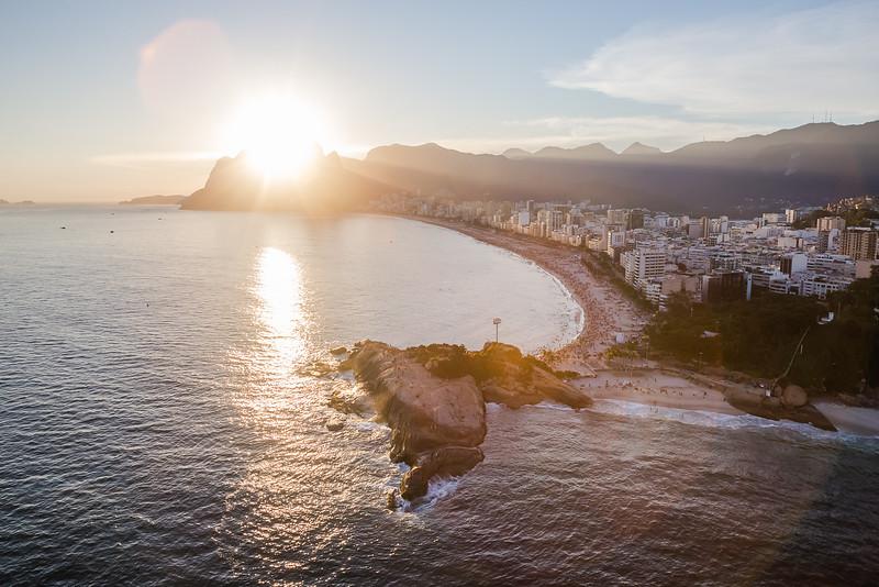 Sunset Point on Ipanema Beach