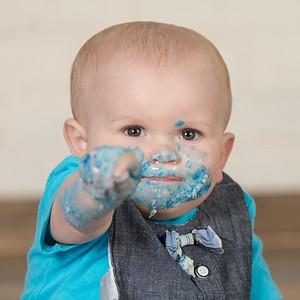 Eriksen Lamb- Turns 1- Cake Smash Toddler Portraits