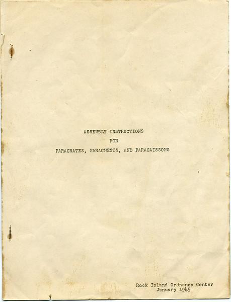 Assembly instructions for Paracrates, Parachests, & Paracassion