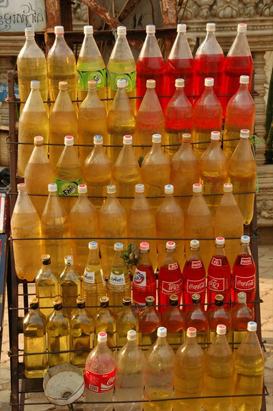 Petrol in Pepsi Bottles - Battambang, Cambodia