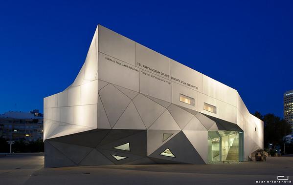 מוזיאון תל אביב, האגף החדש. אדריכלות: פרסטון סקוט כהן