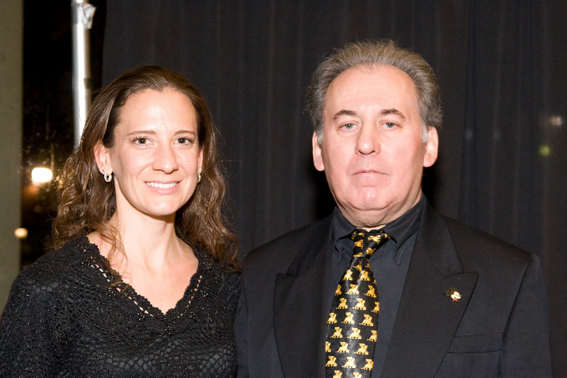 Amy Brusini with her cousin Toby Cioffi -- HSO 25th anniversary post-concert Gala