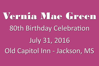 2016-07-31 Green 80th Birthday Party