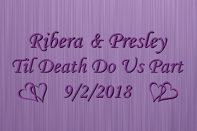 Ribera Presley Wedding - September 2, 2018