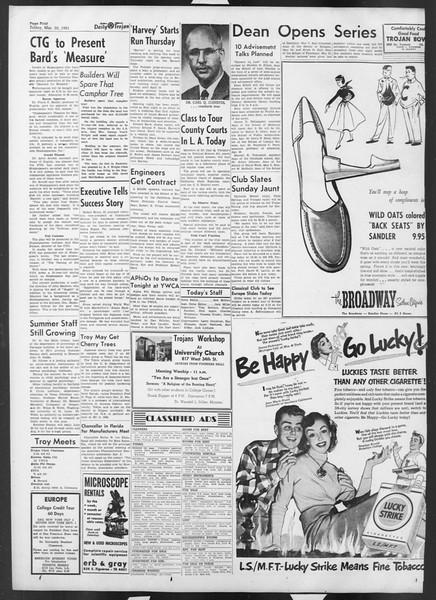 Daily Trojan, Vol. 42, No. 98, March 30, 1951