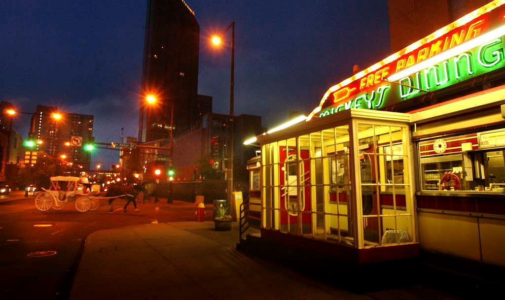 . Mickey\'s Diner is a late-night favorite for many in St. Paul. (Photo by Jim Gehrz)