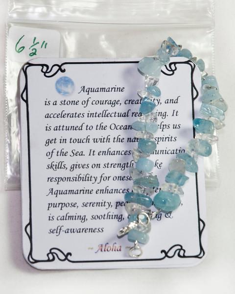 Aquamarine, larger chips w Natural Crystal