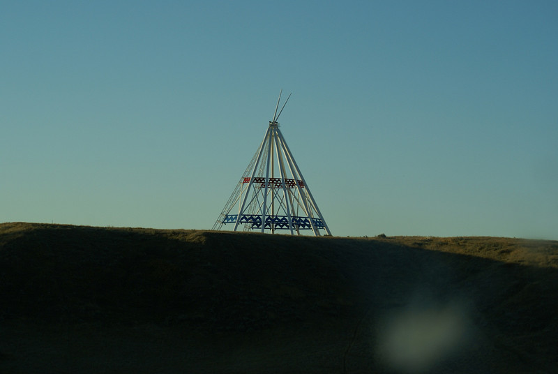 The Calgary Winter Olympics teepee bought by Medicine Hat and transported there.
