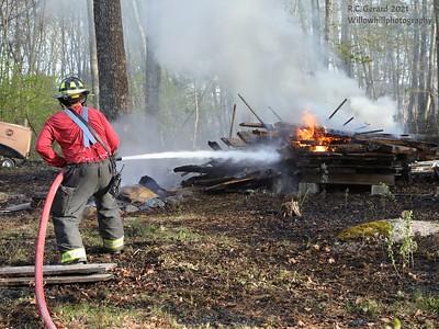 Brush fire 806 Green Hill Rd. Madison