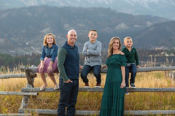 Fox Family - Bridger Mountains, Montana