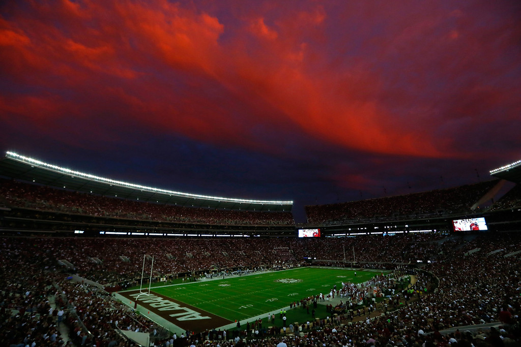 . TUSCALOOSA, AL - SEPTEMBER 21:  A general view of Bryant-Denny Stadium during the game between the Alabama Crimson Tide and the Colorado State Rams on September 21, 2013 in Tuscaloosa, Alabama.  (Photo by Kevin C. Cox/Getty Images)