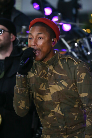 PHARRELL WILLIAMS PERFORMS ON THE TODAY SHOW CITI CONCERT SERIES-NY